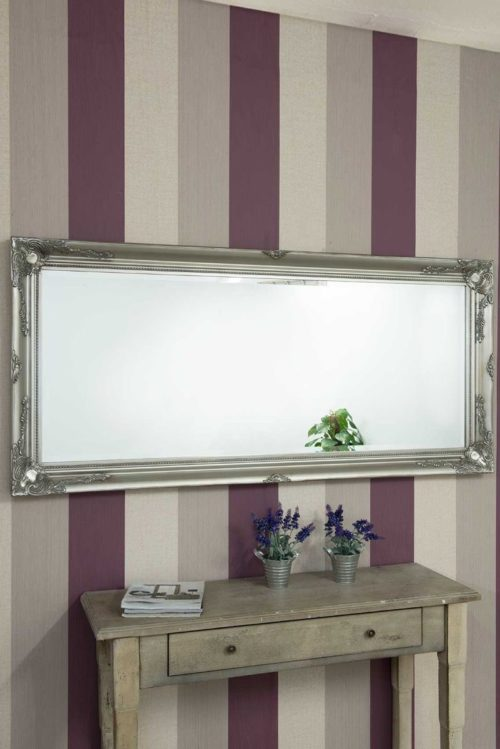 Monksilver 170x79cm Silver Extra Large Full Length Mirror