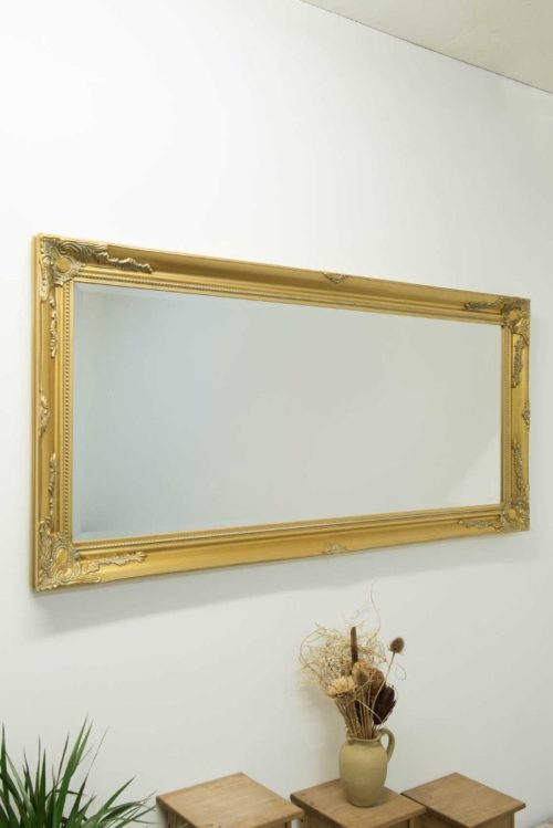 Monksilver 170x79cm Gold Extra Large Full Length Mirror
