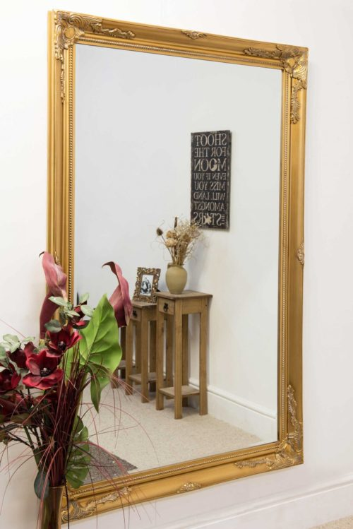 Monksilver 170x109cm Gold Extra Large Leaner Mirror