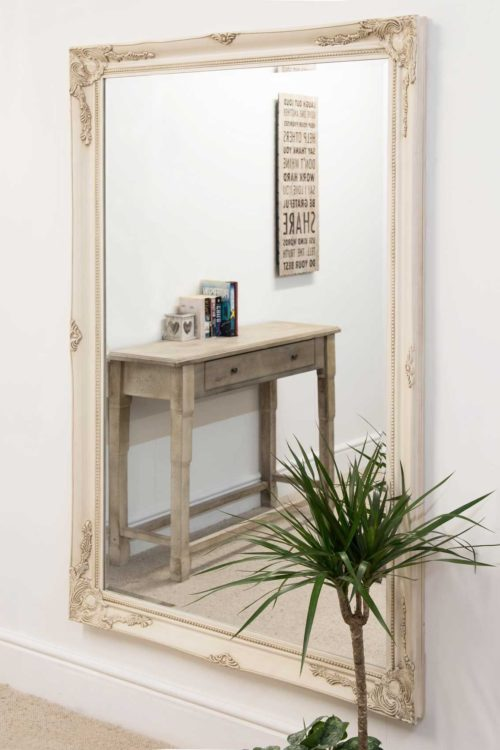 Monksilver 170x109cm Ivory Extra Large Leaner Mirror