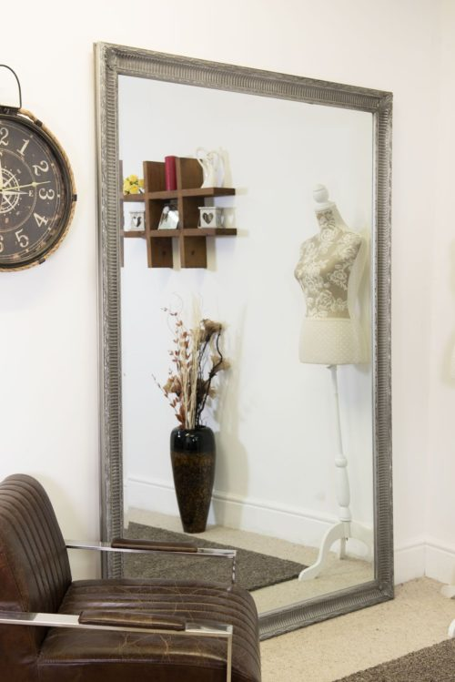 Christon 201x140cm Silver Extra Large Leaner Mirror