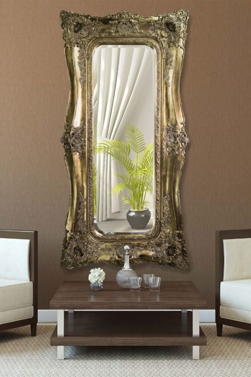 Weycroft 182x90cm Gold Extra Large Full Length Mirror