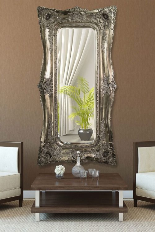 Weycroft 182x90cm Silver Extra Large Full Length Mirror