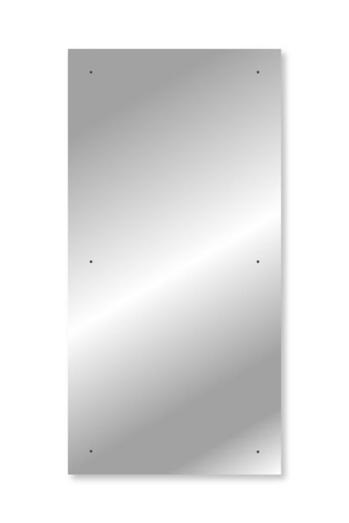 Polished Edge 244 x 122 cm x 4 mm 6-Holes Safety-Backed Mirror Glass