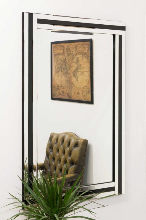 Charlcombe 120x80cm Black Wall Mirror