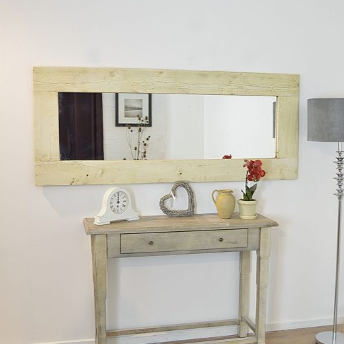 Sandford 183x76cm Light Natural Wood Extra Large Full Length Wood Mirror