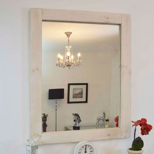 Sandford 119x93cm Light Natural Wood Mirror