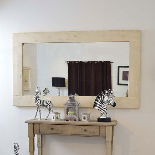 Sandford 183x122cm Light Natural Wood Extra Large Leaner Wood Mirror