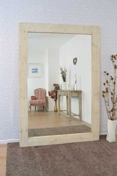 Sandford 213x152cm Light Natural Wood Extra Large Leaner Wood Mirror