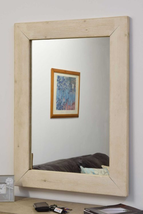 Sandford 93x68cm Light Natural Wood Mirror