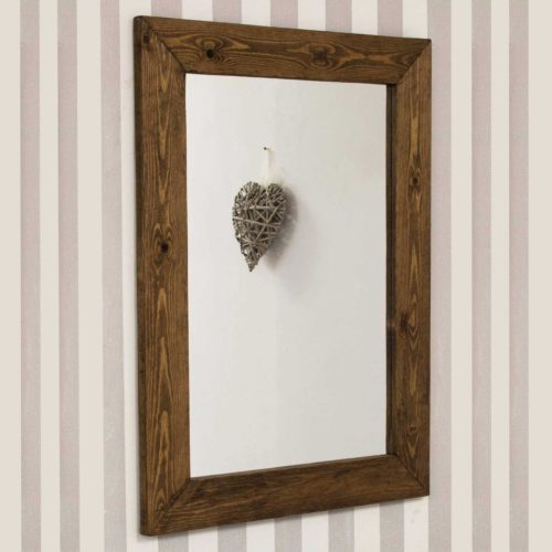 Sandford 93x68cm Dark Natural Wood Mirror