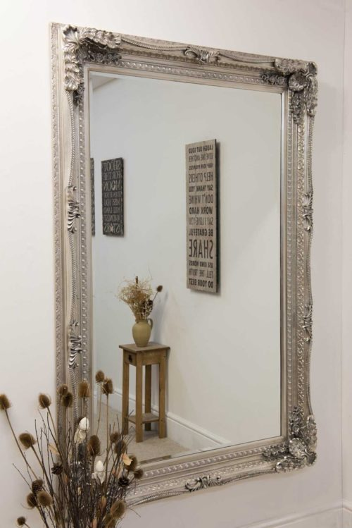 Bossington 185x123cm Silver Extra Large Leaner Mirror