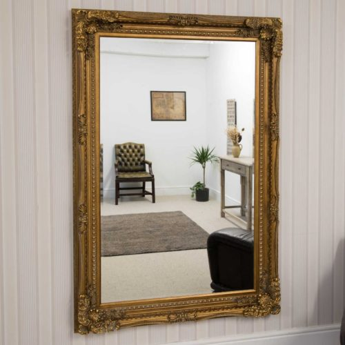 Bossington 185x123cm Gold Extra Large Leaner Mirror