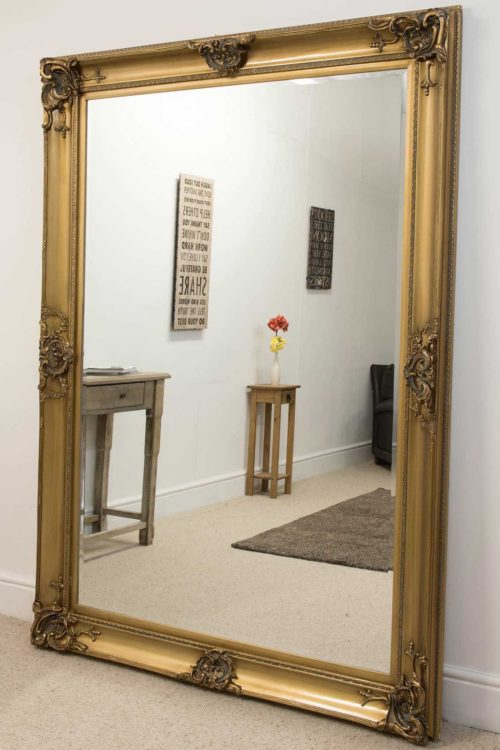 Winscombe 213x152cm Gold Extra Large Leaner Mirror