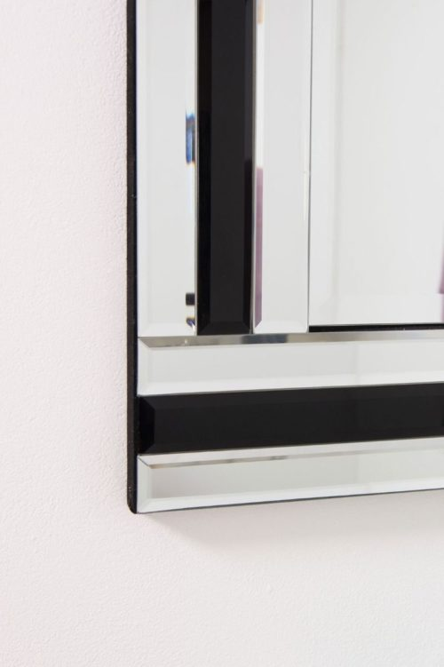 Charlcombe 68x56cm Black Wall Mirror