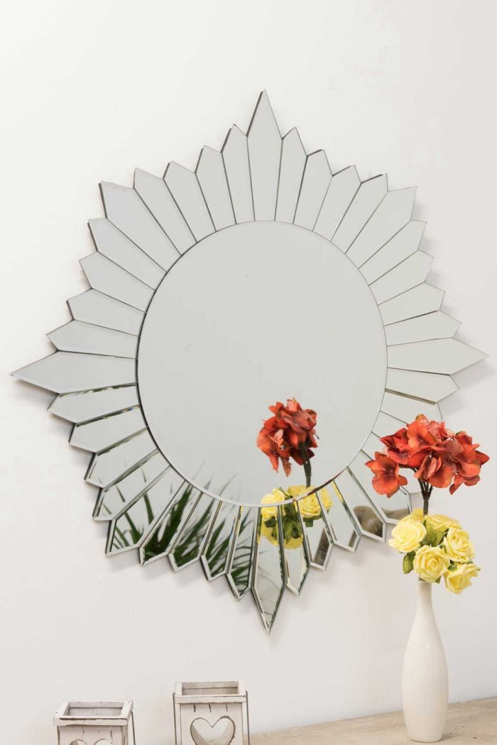 Ashcott 80x80cm Frameless Wall Mirror