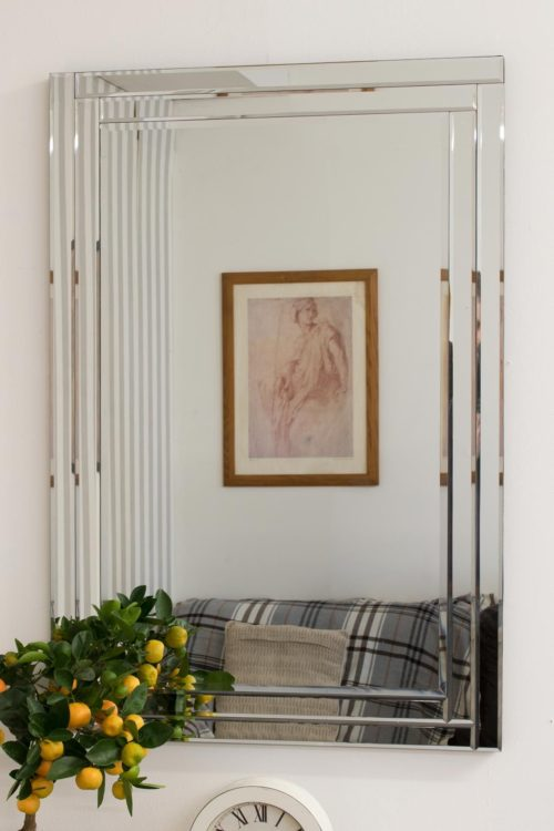 Lingport 90x60cm Frameless Wall Mirror