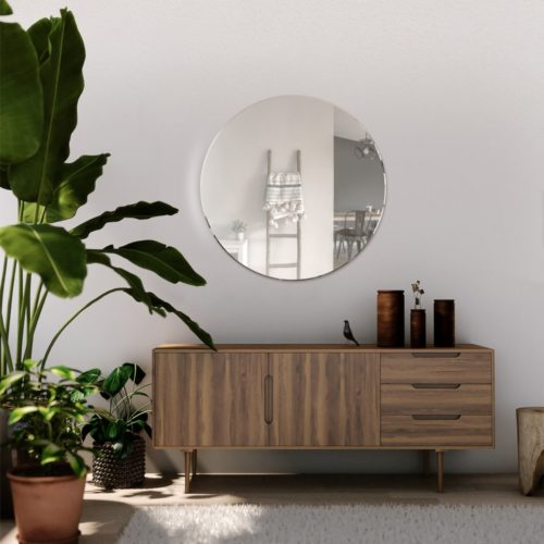 Clovelly 60x60cm Frameless Round Mirror